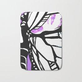 Purple Stain Butterfly Bath Mat