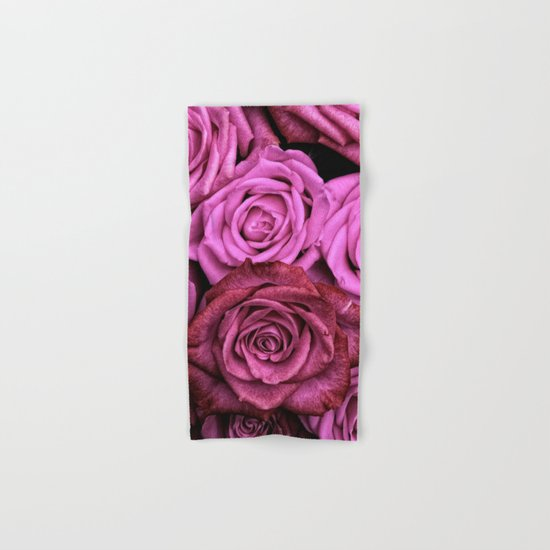 Pink Roses Hand & Bath Towel