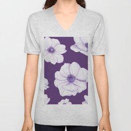 Anemones 2 Purple #society6 #buyart Unisex V-Neck
