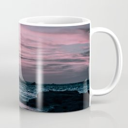 Fading Sunset over the Shimmering Waters on the Moroccan Coast in Essaouira. Nature Photography. Coffee Mug