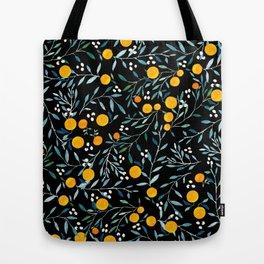 Oranges Black Tote Bag