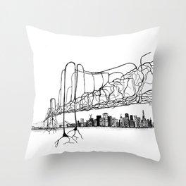 Neuron Bridge Throw Pillow