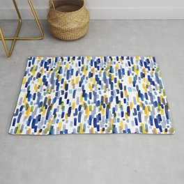 Blue Sky and Sunshine Abstract Watercolor Painting Rug