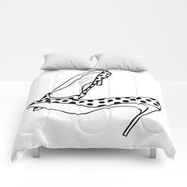 stilettos - polka Comforters