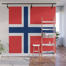 Flag of norway Wall Mural