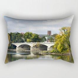 Memorial Bridge Landscape Rectangular Pillow