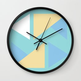Pastel palette triangle origami Wall Clock