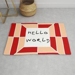 hello world 3 Rug