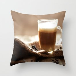 My Coffee in the morning Throw Pillow