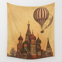moscow Wall Tapestries featuring Moving to Moscow by Terry Fan