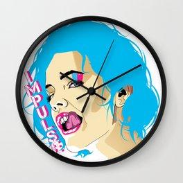 Impulse Girl (Pink Text) Wall Clock