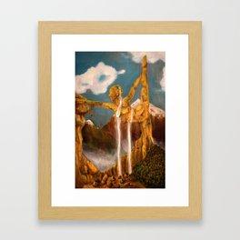 Balance Series - Mid-Day Mountains Framed Art Print