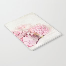 Peonies on white Notebook