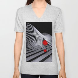 loops and balls -3- Unisex V-Neck