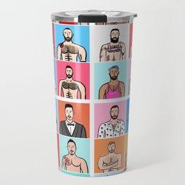 Beard Boy: Collage Travel Mug
