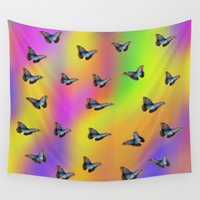butterflies Wall Tapestries featuring Butterflies by Fine Art by Rina