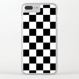 Checkerboard Clear iPhone Case
