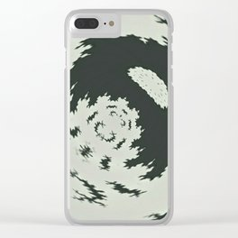 Unsharp Fractal Clear iPhone Case