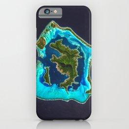 Bora Bora Satellite Image iPhone Case