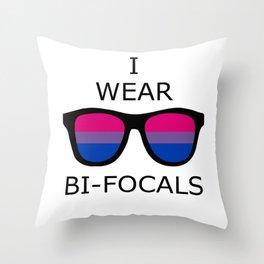 I Wear Bi-Focals Throw Pillow