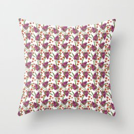 Sultry Summer - Orchids Throw Pillow