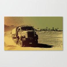 truck in the desert Canvas Print