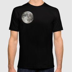 Moon Mens Fitted Tee Black LARGE