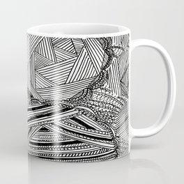 Black and White Geometric Illusion Coffee Mug