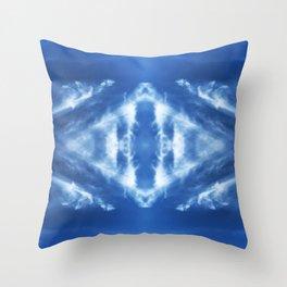 Tie Dye Sky Throw Pillow