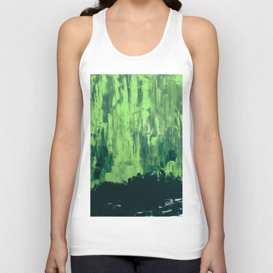 Snow Dreams At Night, Solar Flares Series Unisex Tank Top