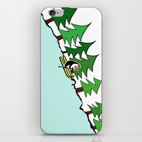 ski iPhone & iPod Skins featuring Ski Penguin by Jiwon Kim