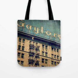 1924 Gaylord Apartments Vintage Neon Sign  Tote Bag