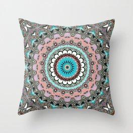 Intricate Layers Mandala Throw Pillow
