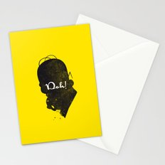 Doh – Homer Simpson Silhouette Quote Stationery Cards