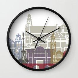 Cordoba skyline poster Wall Clock