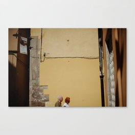 A street scene from Tuscany. Canvas Print