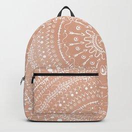 Geometric tribal mandala Backpack