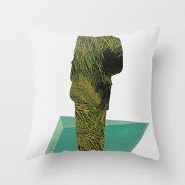 weaving threads of rushing water Throw Pillow