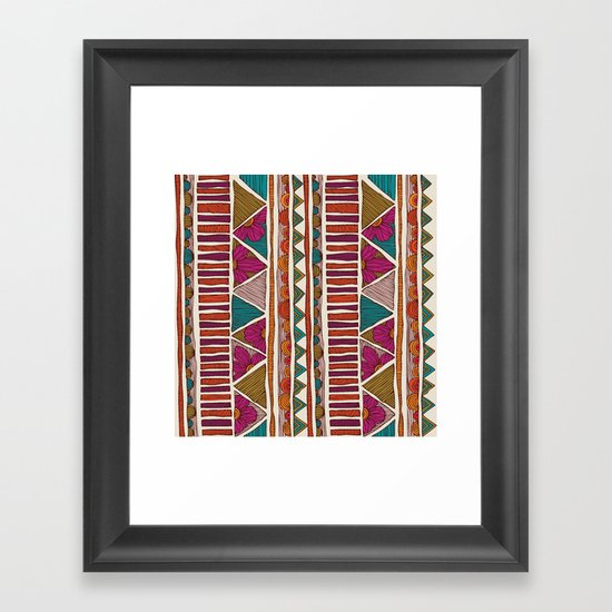 Tribal stripes Framed Art Print