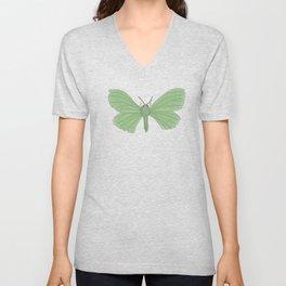 Emerald Moth Unisex V-Neck