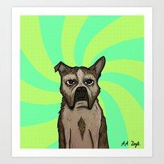 Dog Hypnosis Art Print