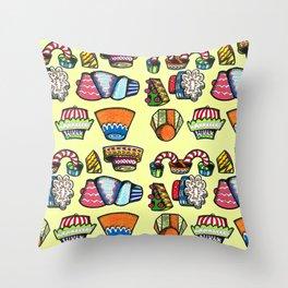 Cupcake Party Throw Pillow