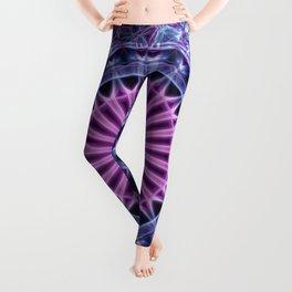 Pretty mandala in blue and violet tones Leggings