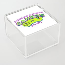 Father and Daughter Gamers For Life Acrylic Box