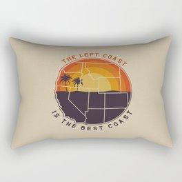Left Coast is the Best Coast Rectangular Pillow