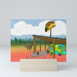Flock of Gerrys Gerry Loves Tacos Octo's Taco's Busy Day Mini Art Print