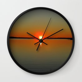 Pregnant Pause of a Downeast Evening Wall Clock