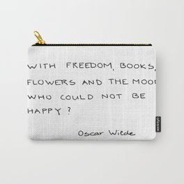 with freedom, books, flowers and the moon Carry-All Pouch