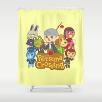 persona Shower Curtains featuring Persona Crossing by Cassie S