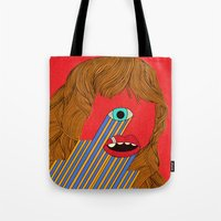 melissa smith Tote Bags featuring Smith Eyed by Roland Lefox